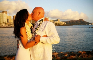 Wedding Vows at Sunset